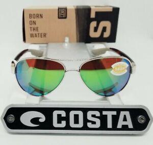 COSTA DEL MAR gold-tortoise/green mirror LORETO POLARIZED 580P sunglasses! NEW!