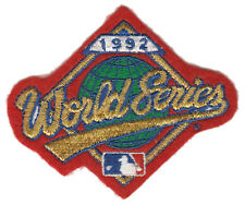 "1992 WORLD SERIES MLB BASEBALL VINTAGE 3.5"" LOGO PATCH BLUE JAYS VS BRAVES"