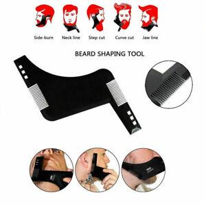 Men Beard Shaping Tool Styling Template Shaper Stencil Symmetry Trimming Comb UK