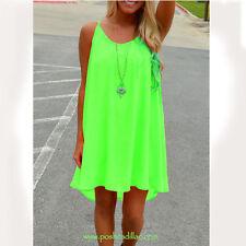 Fluorescent Bright Green & Vibrant Pink Sexy Nightwear, Baby Doll & Dress Size:M