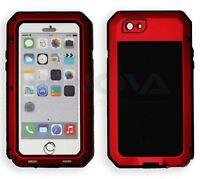 Iphone 6 Case HD Shockproof Tough Metal Anti Shock Proof Hybrid [RED]
