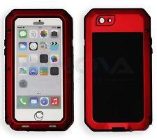Iphone 6 caso Hd A Prueba De Golpes Resistente Metal Anti híbrida a prueba de golpes [Rojo]