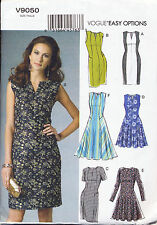VOGUE SEWING PATTERN 9050 MISSES 14-22 EASY NOTCHED NECK FLARED & STRAIGHT DRESS