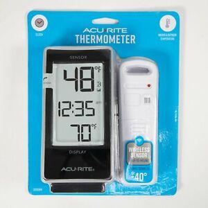 Acu-rite Indoor Outdoor Temperature Thermometer Clock 02059W New Wireless
