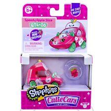 Shopkins Cutie Cars Speedy Apple Slice QT4-06 Diecast Car With Mini Shopkin New