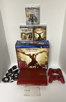 1TB PlayStation 3 PS3 God of War Ascension Legacy Bundle Garnet Red Console Box