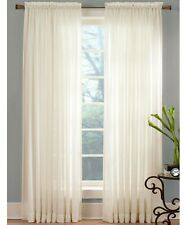 "Miller Curtains Sheer Angelica Voile 59"" x 95"" Window Curtain Panel - Ivory"