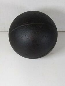 VINTAGE ANTIQUE WOODEN BOCCE BALL SOLID WOOD Early 1900's Era STRIPED