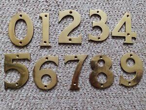 """3"""" Polished Solid Brass Door Numbers (75MM) House Door Numbers with Screws"""