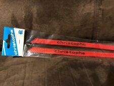 NOS ZEFAL CHRISTOPHE BICYCLE TOE CLIP STRAPS  VINTAGE Nylon Red