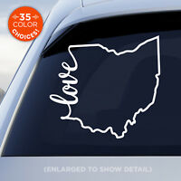 "Ohio State ""Love"" Decal - OH Love Car Vinyl Sticker - add heart over any city!"