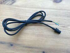 One BULGIN mini 3 pin plug,14mm body, Ferrograph, Racal, 2 metre 3 core cable