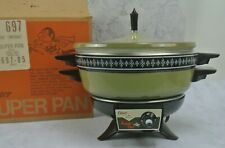 Vintage Oster Imperial Super Pan Fondue Pot, Avocado Green Color 697-05