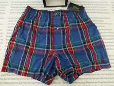 POLO RALPH LAUREN Cotton Boxer Woven Multi Plaid Size S Underwear 1/pk BNIB R£30