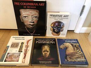 Lot 6 Books Primitive Arts Pre-Columbian African Indian Antiquities Abrams