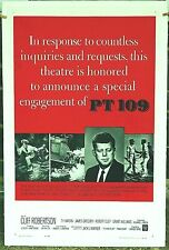 """PT 109 Special Engagement linen mounted 27 X 41"""" Movie Poster PRES J F K 40%OFF"""