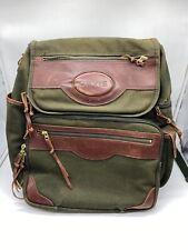 Orvis Battenkill Businessman's Olive Canvas Leather Backpack Travel Bag