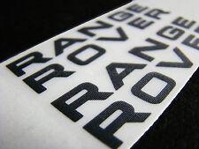 2x 75mm Range Rover NERO FRENO PINZA FRENO Decalcomania Adesivi high temp
