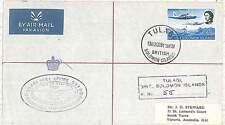 POSTAL HISTORY  - SOLOMON ISLAND : TULAGI postmark on REGISTERED COVER 1991