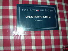 NEW TOMMY HILFIGER KARIN RED PLAID CALIFORNIA KING  BED SKIRT