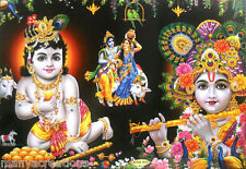 "Lord  Krishna in different postures Hindu God Poster Picture 21""X 31"" (LM 7813)"
