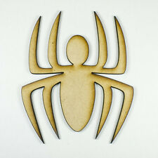MDF Wood Wooden Shape / Shapes Spider Cutout for Craft Home Room Decor Fun Kids