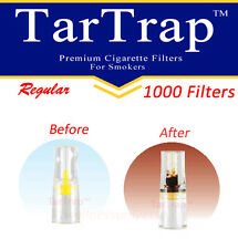 TarTrap Disposable Cigarette Filters Bulk Pack (1000 Filters) + 2 BIC Lighters