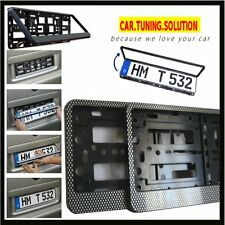 2x CARBON NUMBER PLATE SURROUNDS FRAMES FOR ANY CAR