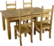 Seconique CORONA Extending Dining Set 14 - Distressed Waxed Pine Whds393dwp