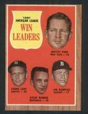 1962 Topps #57 Ford/Lary/Barber/Bunning Ex+ A.L. Win Leaders 75006