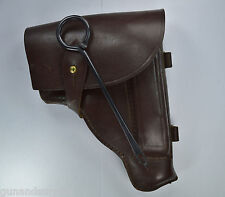 Russian Soviet 9x18 Makarov Pistol Holster Brown Leather /W Cleaning Rod