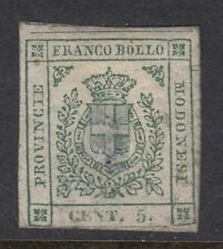 MODERNA ( Italy) : 1859 5c pale green imperforate SG18 used