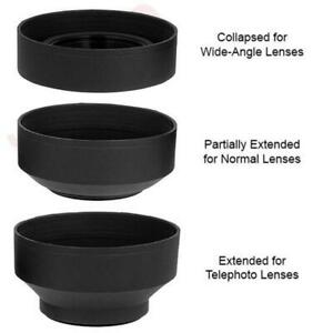 58MM Soft Rubber Collapsible Lens Hood for Canon 18-55 75-300 55-250mm Lenses