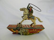 ANTIQUE MARX HOP A'LONG CASSIDY WIND-UP TIN LITHO TOY COWBOY WITH LASSO