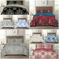 Reversible Duvet Cover Pillow Case Quilt Cover Bedding Set Single Double King