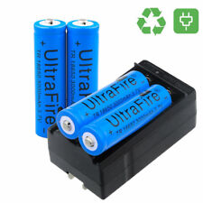 4PC UltraFire 3000mAh 18650 Battery 3.7v Li-ion Rechargeable + Charger USA STOCK