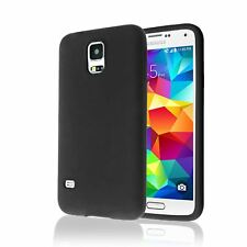 Black soft Gel Silicone Cover Case for Samsung Galaxy S5 / S5 Neo