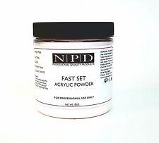 NPD Fast Set Acrylic Powder 8oz.- White BONUS Premium Nail File