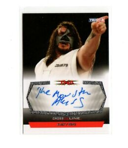 """TNA Cross The Line 2008 #CA  Abyss Autograph Inscription """"The Monster"""" Wrestling"""