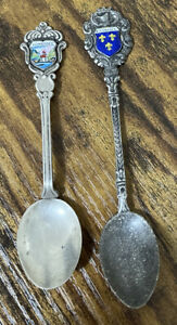 Konigssee 800 Sterling Silver & Wiesbaden Antiko 100 Silver Souvenir Spoon Lot 2