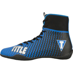 Title Boxing Predator II Lightweight Mid-Length Boxing Shoes - Blue/Black