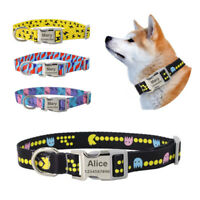 Dog Collar Multicolor Printed Pet Tag Collar Personalized Customized Cat Collars