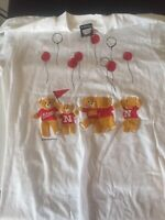 Nebraksa Cornhusker Teddy Bear T-Shirt 1 Medium Size & 1 Large Size