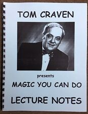 Vintage Magic You Can Do Lecture Notes By Tom Craven Manuscript Book