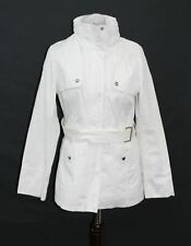 MISS SIXTY M60 Ladies White Hooded Zip Classic Belted Jacket Raincoat M UK10