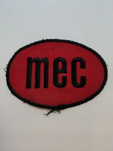 """Vtg MEC Outdoor 5"""" Sew On Patch Reloading Guns Trap Shooting Hunting Firearms"""