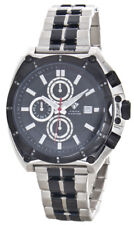 Aqua Master Men's Black Dial Two-Tone Steel Chronograph Dial Watch W#328