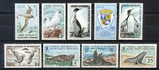 FRENCH ANTARCTIC TERRITORY TAAF 1959-1962- ANTARCTIC ANIMALS - MNH SET (9)