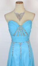 New Authentic TONY BOWLS 2351100 Turquoise Bridal Wedding Evening Gown Dress 10