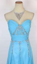 New TONY BOWLS 2351100 Authentic Turquoise Bridal Wedding Women Evening Dress 10